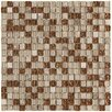 """<strong>Sierra 5/8"""" x 5/8"""" Polished Glass and Stone Mini Mosaic in Caramel</strong> by EliteTile"""