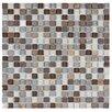 "EliteTile Sierra 5/8"" x 5/8"" Polished Glass and Stone Mini Mosaic in Tundra"