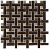 <strong>Sierra Random Sized Polished Glass and Stone Basketweave Mosaic in ...</strong> by EliteTile