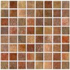EliteTile Tesselar Valise Ceramic Matte Glazed Mosaic in Earth Tones