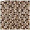 """<strong>Isle 5/8"""" x 5/8"""" Porcelain Mosaic Wall Tile in Zealandia</strong> by EliteTile"""