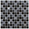 "<strong>EliteTile</strong> Chroma 7/8"" x 7/8"" Square Glass and Stone Mosaic Wall Tile in  Ligoria"