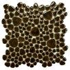 <strong>EliteTile</strong> Boulder Random Sized Glazed Porcelain Mosaic in Mahogany