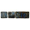 "<strong>EliteTile</strong> Reef 8"" x 2"" Aquatica Handmade Ceramic Mosaic Wall Tile in Cobalto"