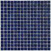 """EliteTile Cobalt 5/8"""" x 5/8"""" Glazed Porcelain Square Mosaic in Cobalt"""