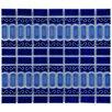 EliteTile Emilia Random Sized Porcelain Glazed and Glossy Mosaic in Cobalt Blue