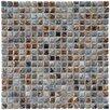 """EliteTile Arcadia 9/16"""" x 9/16"""" Glazed Porcelain Mosaic in Noce Slate"""
