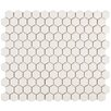 "<strong>EliteTile</strong> Retro 7/8"" x 7/8"" Glazed Porcelain Hex Mosaic in Matte White"