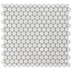 "<strong>EliteTile</strong> Penny 3/4"" x 3/4"" Glazed Porcelain Mosaic in White"