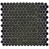 """<strong>Penny 3/4"""" x 3/4"""" Glazed Porcelain Mosaic in Black</strong> by EliteTile"""
