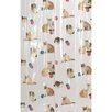 <strong>Carnation Home Fashions</strong> Kitty Heaven Vinyl Shower Curtain