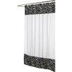 <strong>Carnation Home Fashions</strong> Animal Instincts Polyester Serengeti Faux Fur Trimmed Shower Curtain
