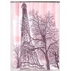 Carnation Home Fashions Tour Eiffel Polyester Shower Curtain