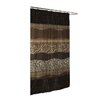 Carnation Home Fashions Animal Instincts Polyester Felina Faux Fur Trimmed Shower Curtain