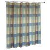 <strong>United Curtain Co.</strong> Plaid Polyester Shower Curtain