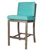 David Francis Furniture Manhattan Bar Stool with Cushions