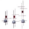 Metrotex Designs 3 Piece Retro Heavy Steel Sconce Set