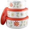 Reston Lloyd Corelle Coordinates 3 Piece Storage Bowl Set