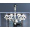 Leucos Orietta Indovino Veronese 8 Light Chandelier Bulb Type 8x60 E12+1x100 E26 G 40
