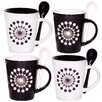 <strong>Home Essentials and Beyond</strong> Target 10 oz. Mug and Spoon (Set of 4)