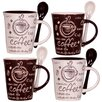 <strong>Home Essentials and Beyond</strong> Coffee 10 oz. Mug and Spoon (Set of 4)