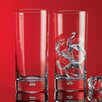 Home Essentials and Beyond Red Series 17 oz. Bubble Highball Glass (Set of 4)