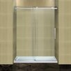 <strong>Completely Frameless Sliding Shower Door with Low-Profile Base</strong> by Aston