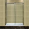 Aston Completely Frameless Sliding Shower Door with Low-Profile Base