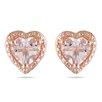 Amour Heart Cut Morganite Stud Earrings