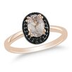Amour Gold Oval Cut Morganite Ring