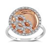 <strong>Amour</strong> Rose Gold Round Cut Diamond Ring