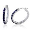 <strong>Amour</strong> Sapphire Hoop Earrings