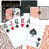 <strong>Copag Cards</strong> Poker Regular Index Setup in Orange and Brown