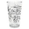 Zrike Disney Sketchbook 16 oz. Glass Tumbler (Set of 6)