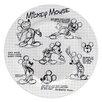 """Zrike Disney Sketchbook 10.5"""" Mickey Dinner Plate (Set of 4)"""
