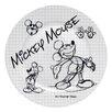 """Zrike Disney Sketchbook 8.25"""" Mickey Salad Plate (Set of 4)"""