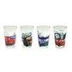 <strong>Zrike</strong> Disney 4 Piece 8 oz. Cars Juice Glass Set
