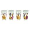 Zrike Disney 4 Piece 8 oz. New Princesses Juice Glass Set