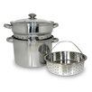 <strong>Cook Pro</strong> 4 Piece 8-Quart Stainless Steel Multi-Cooker Set