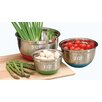 <strong>Cook Pro</strong> 3 Piece Stainless Steel Mixing Bowl Set