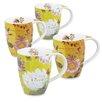 Konitz 11 oz. Lotus and Fruit Tea Flower Mug (Set of 4)