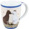 Konitz 11 oz. Cat Couple Mug (Set of 4)