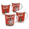 Konitz Vintage Christmas 13 oz. Snow and Icicles Mug (Set of 4)