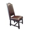 MOTI Furniture True Leather Side Chair