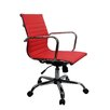 Winport Industries Mid-Back Leather Executive Swivel Office Chair