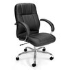 OFM Mid-Back Leatherette Executive Conference Chair with Arms