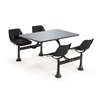 Group/Cluster Table and Chairs Picnic Table with Stainless Steel Top