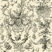 York Wallcoverings Black and White Old World Toile Wallpaper