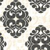 York Wallcoverings Risky Business Tone On Tune Straight Damask Wallpaper