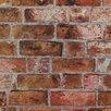York Wallcoverings Modern Rustic Brick Trompe L'oiel Wallpaper